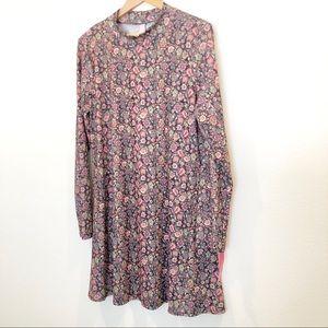 Bohemian Chic Floral Boho Long Sleeve Dress XL